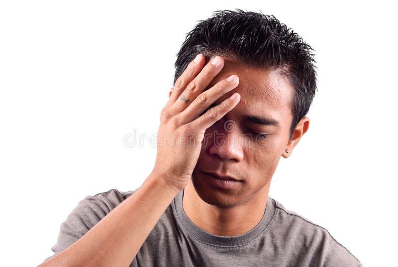 疼痛坏题头 图库摄影
