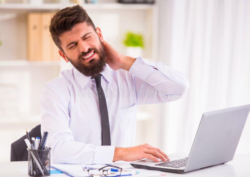 疾病在办公室 免版税库存图片
