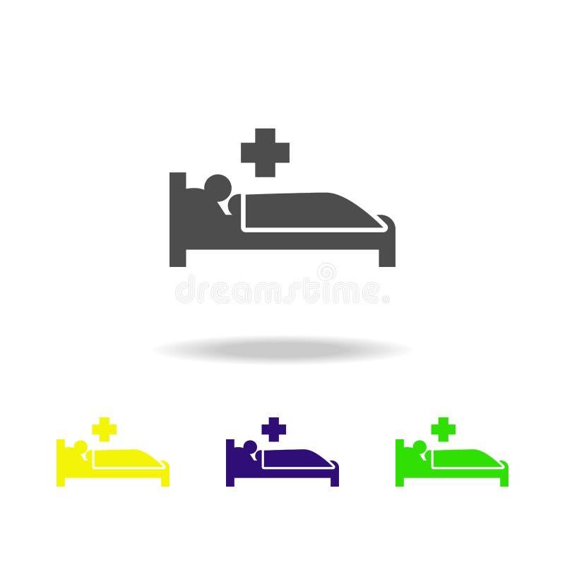 疾病防治上色了象 被克服的挑战例证的元素 标志和标志汇集象网站的,网 向量例证