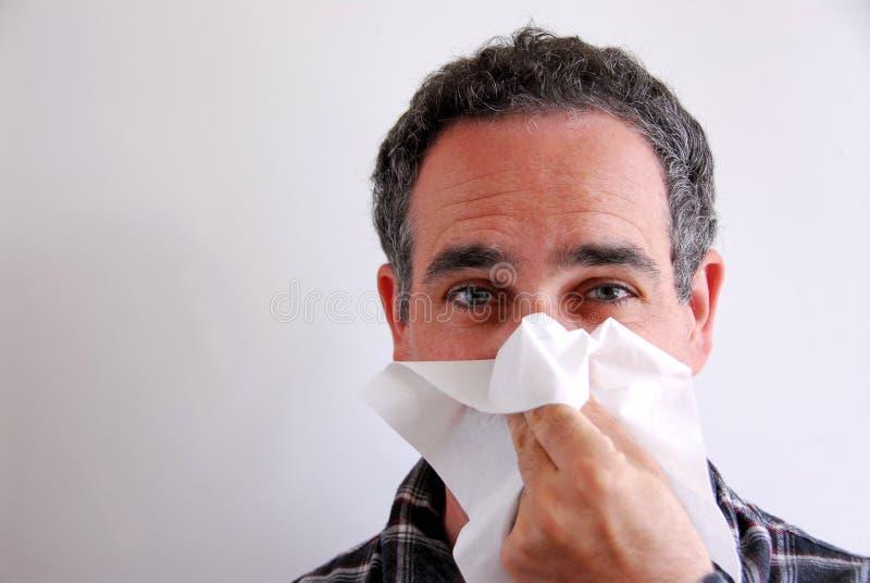 病吹的人的鼻子 库存图片