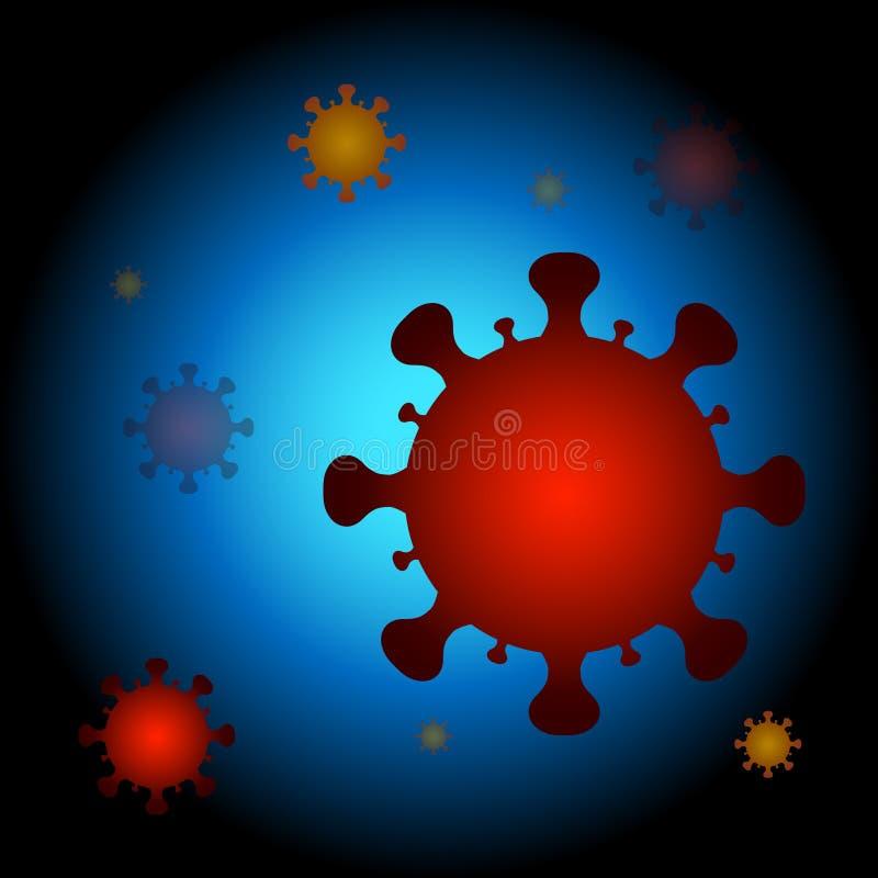 病毒细胞背景 免版税库存图片