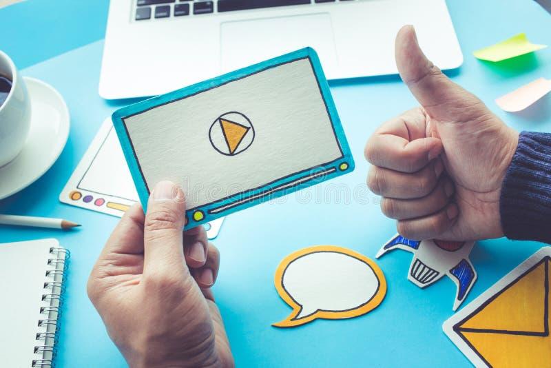 病毒营销,社会媒介,网上营销概念 免版税库存照片