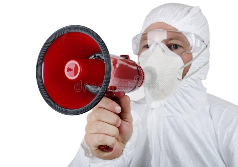 病毒警告 库存照片