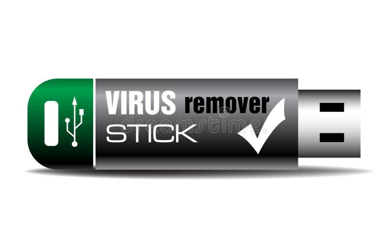 病毒去膜剂棍子 向量例证