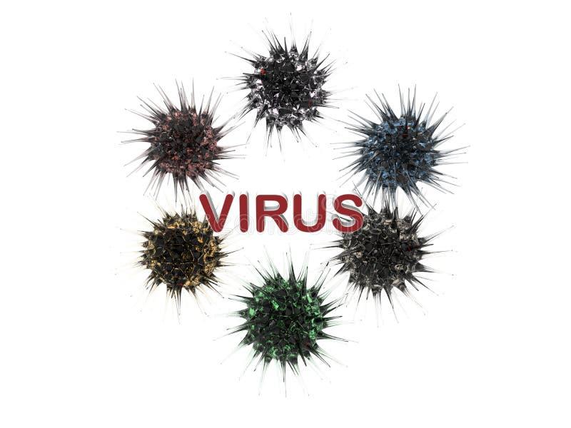 病毒-细菌概念 库存例证