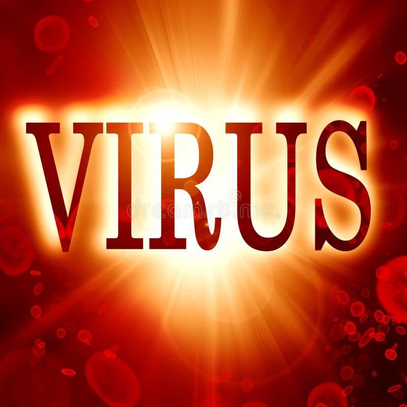 病毒 皇族释放例证