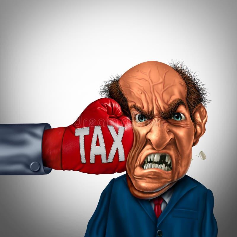 痛苦的税概念 库存例证