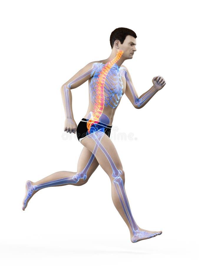 痛苦的赛跑者  向量例证