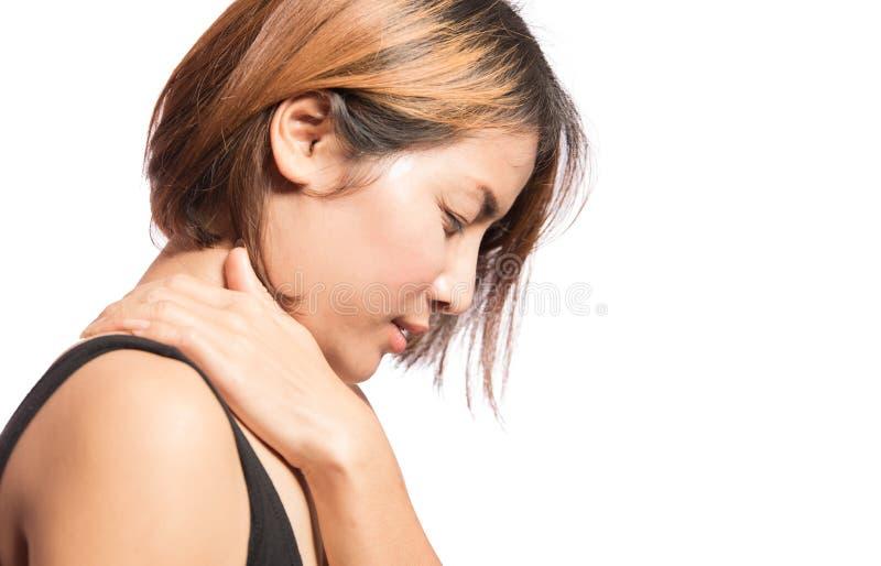 痛苦肩膀妇女 图库摄影