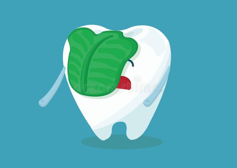 痛饮牙 向量例证
