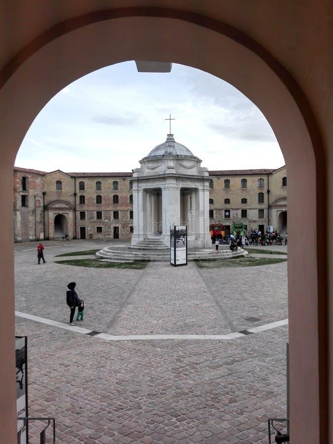 痣Vanvitelliana或Lazzaretto在安科纳,意大利 免版税库存图片