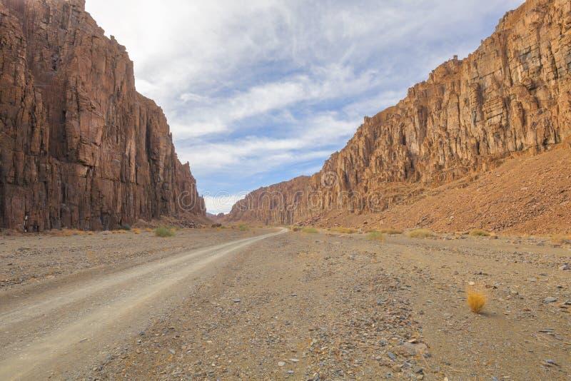 贫瘠岩石峡谷 库存图片