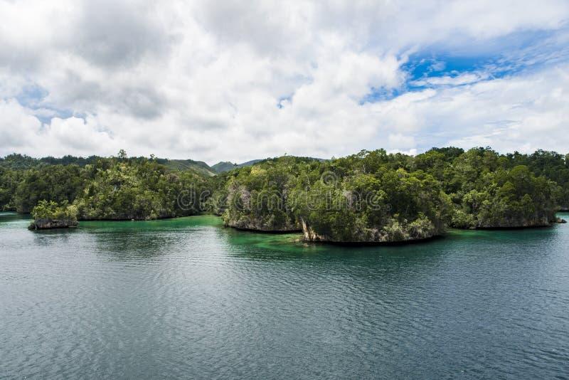 贫瘠白垩海岛,印度尼西亚 库存图片