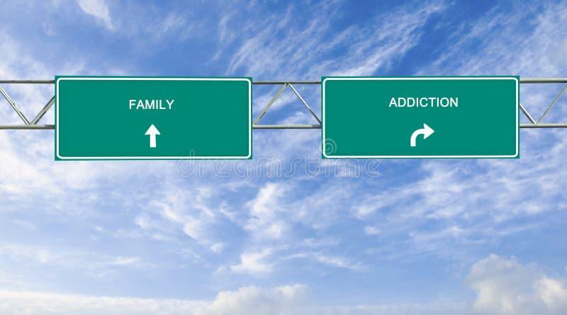 瘾和家庭 免版税库存图片