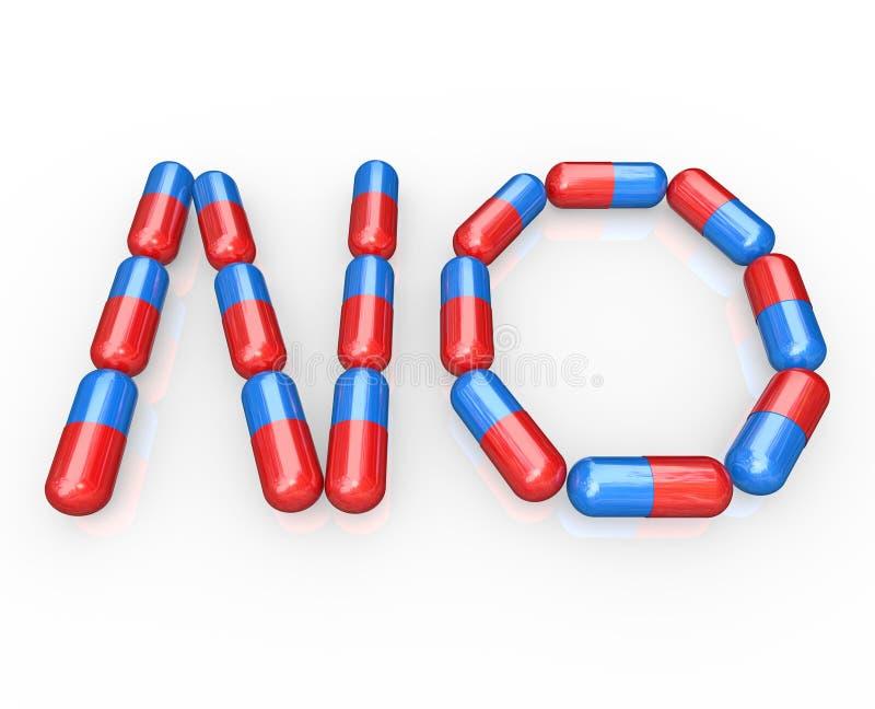 瘾敲打药物没有药片废物字 皇族释放例证