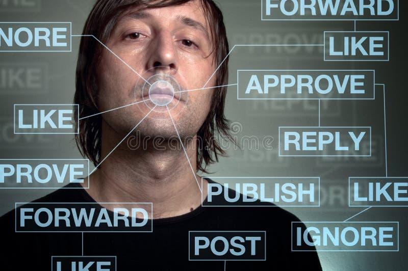 瘾网络社交 库存例证