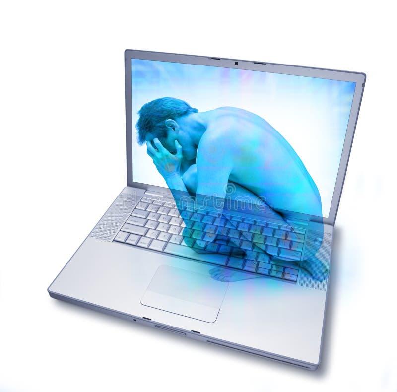 瘾计算机互联网技术 图库摄影