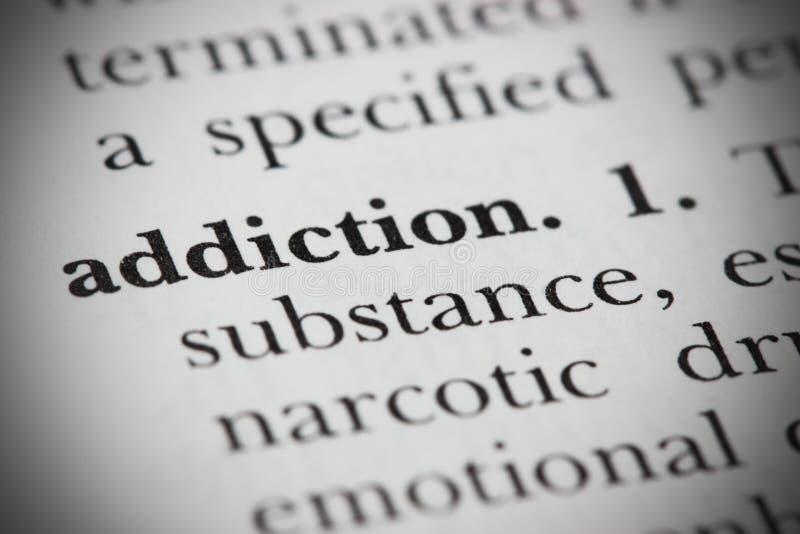 瘾词典字 库存图片