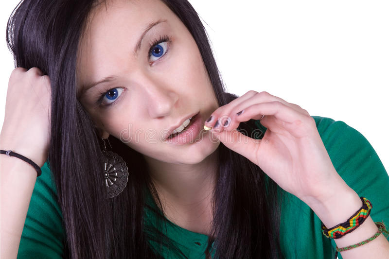 瘾青少年药物的问题 库存图片