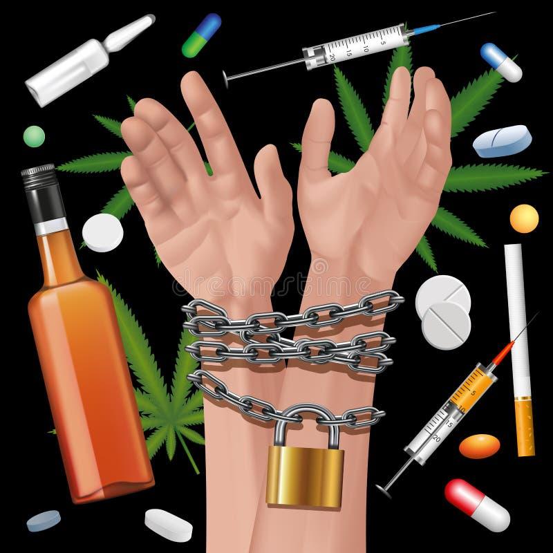 瘾 向量例证