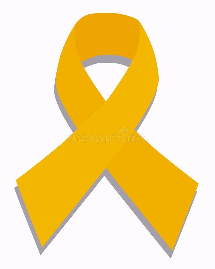 癌症儿童金丝带 向量例证