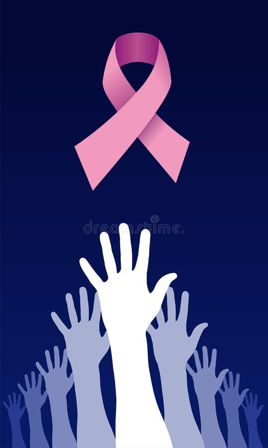 癌症疾病对尝试的伸手可及的距离解&# 库存例证