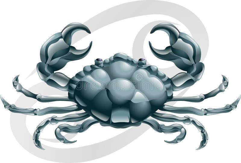 癌症螃蟹符号星形 向量例证