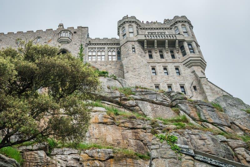 登上圣迈克尔小山顶城堡 免版税库存图片