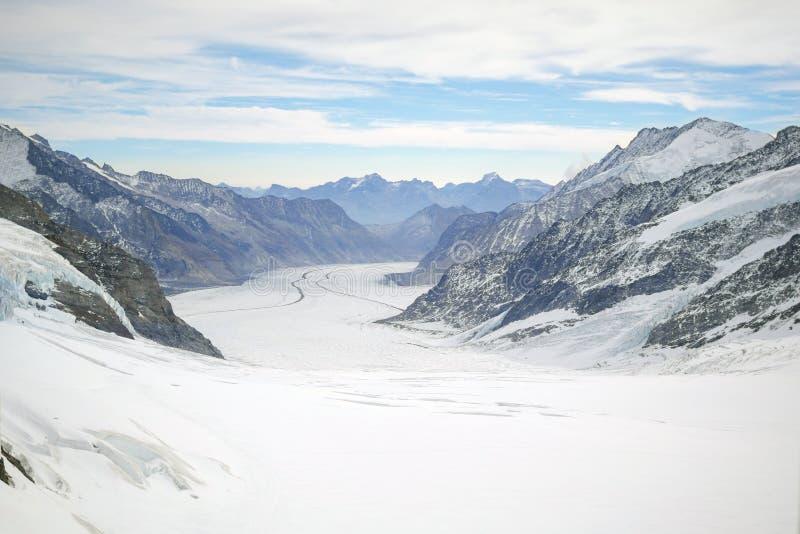登上欧洲,瑞士少女峰上面  库存图片