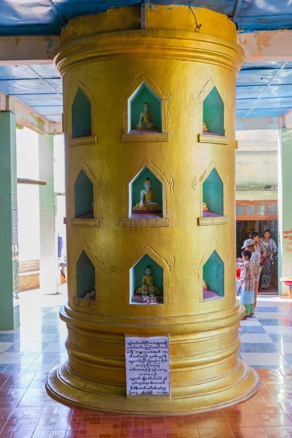 登上的Popa,缅甸Popa Taungkalat修道院 免版税图库摄影