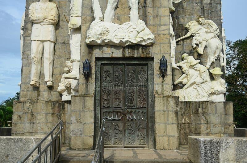 登上Samat全国寺庙 巴丹省菲律宾 库存图片