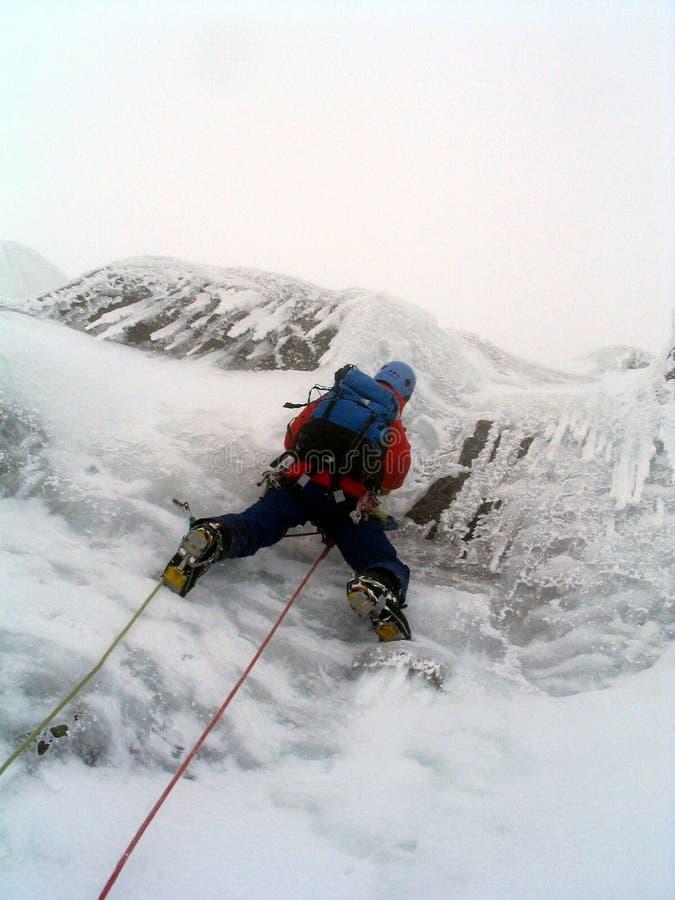 登山人冰苏格兰 免版税库存图片