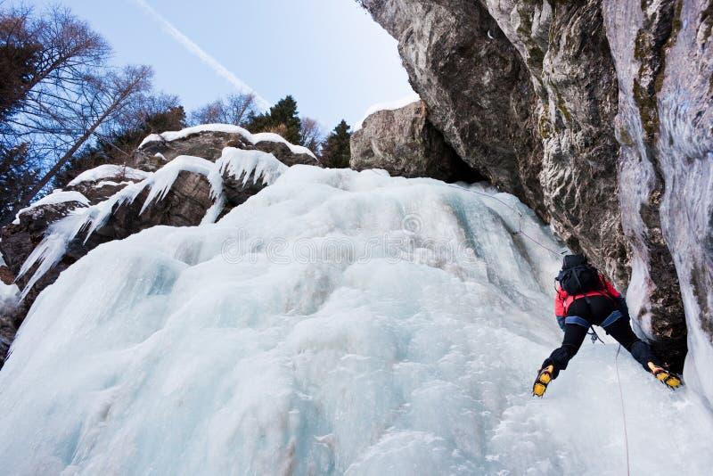 登山人冰 图库摄影