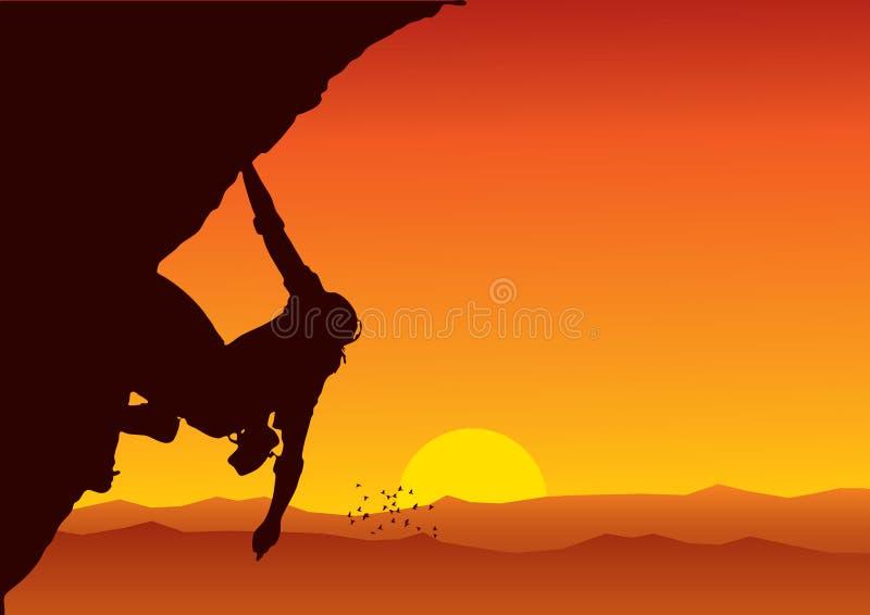 登山人向量 库存例证