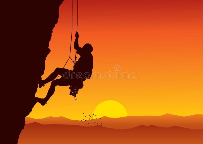 登山人向量 皇族释放例证