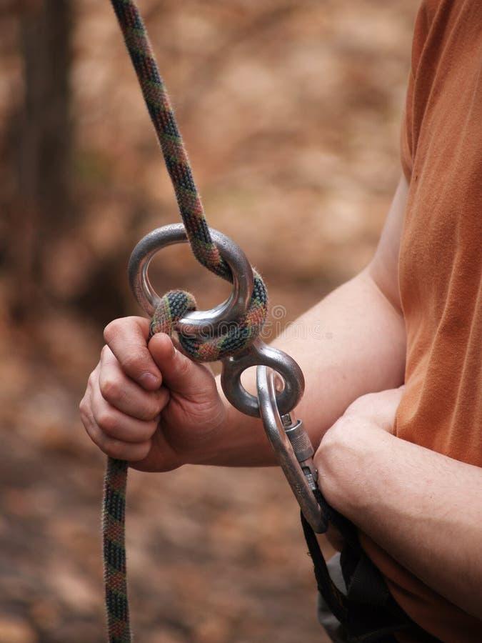 登山人安全 免版税库存照片