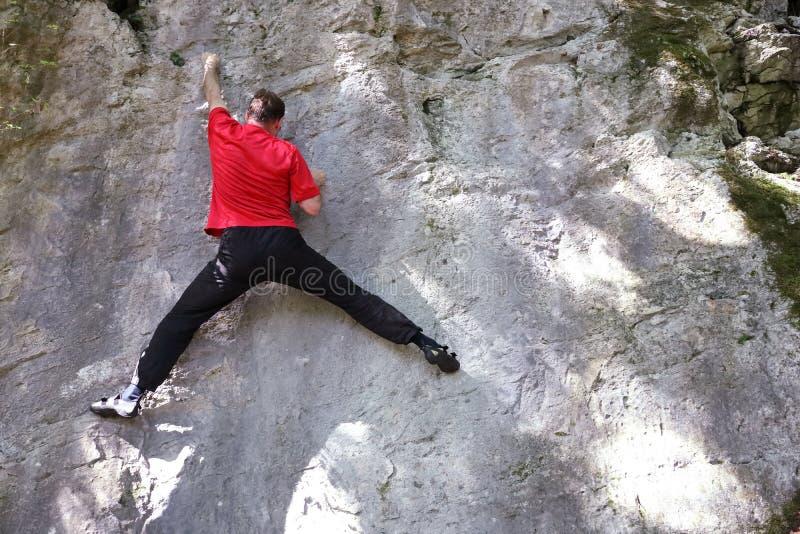 登山人实践 库存照片