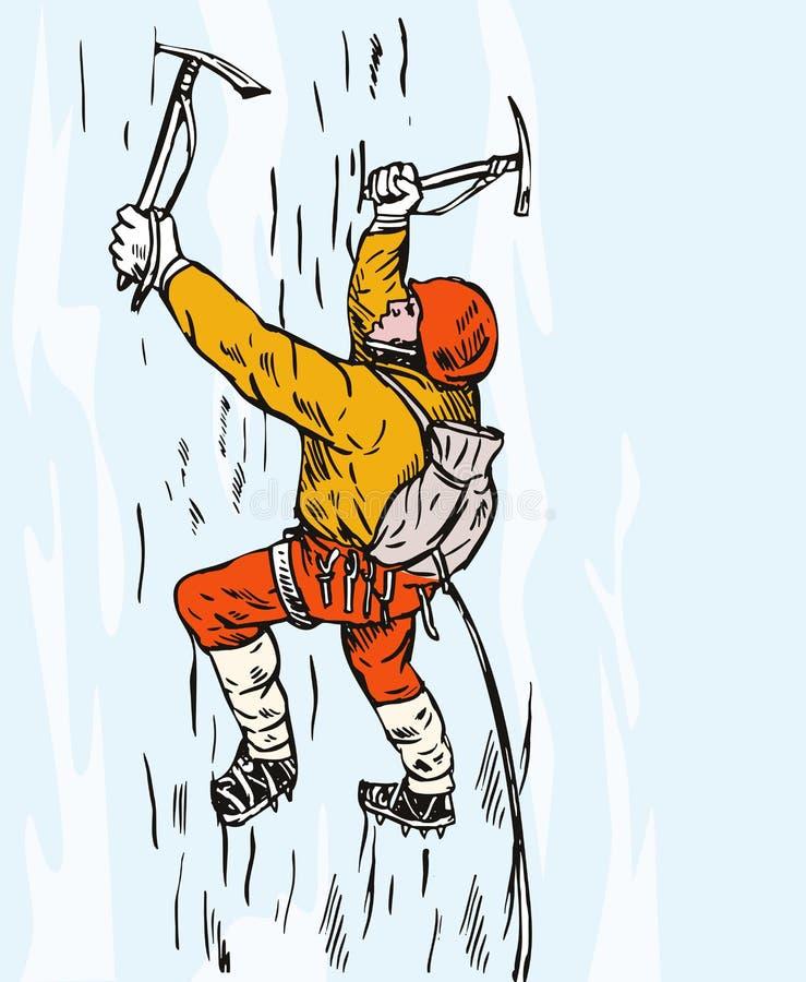 登山人山 向量例证