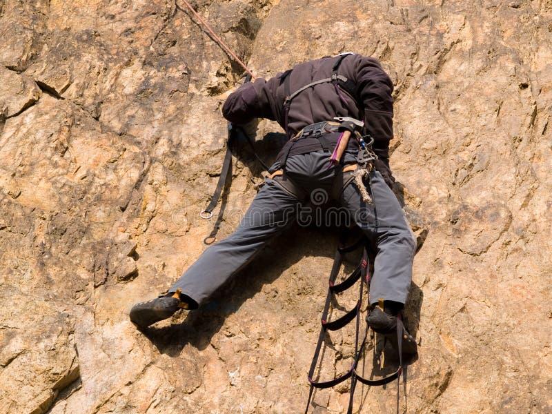 登山人梯子 库存照片