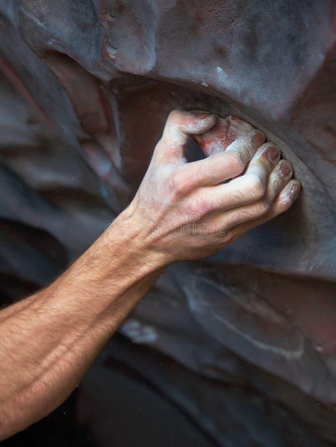 登山人现有量岩石s 库存图片
