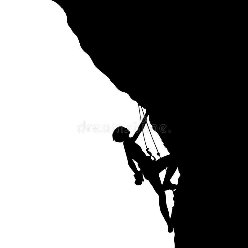 登山人的剪影 皇族释放例证