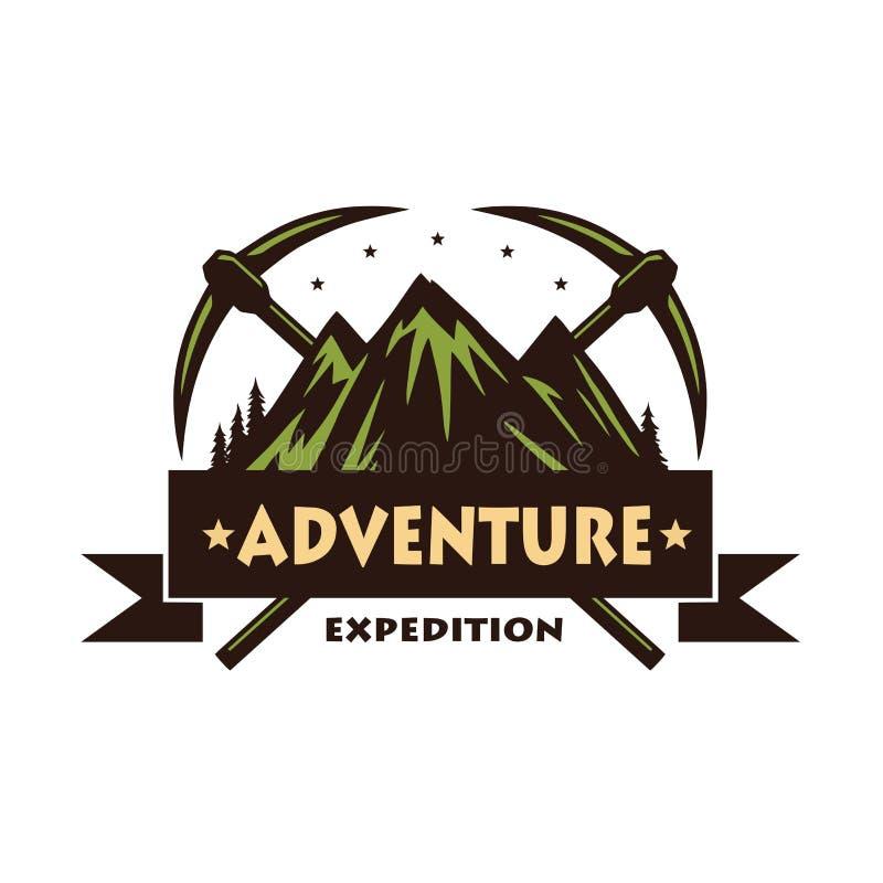 登山冒险商标传染媒介 皇族释放例证