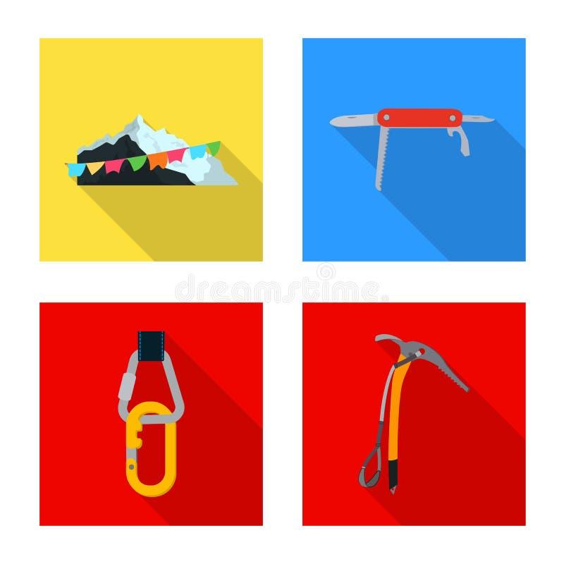 登山和峰顶商标传染媒介设计  套登山和阵营储蓄传染媒介例证 向量例证