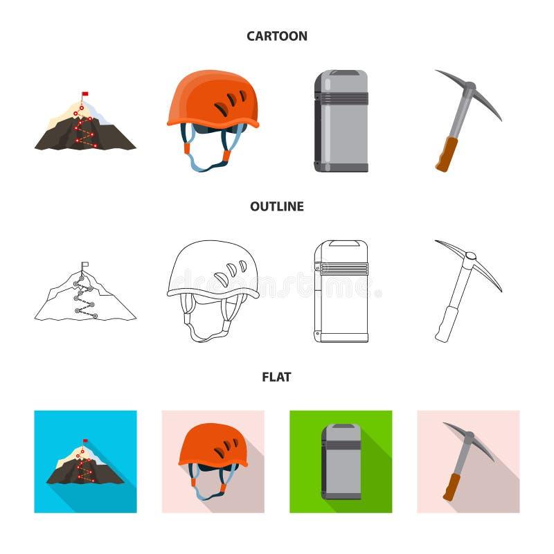 登山和高峰标志传染媒介设计  r 库存例证