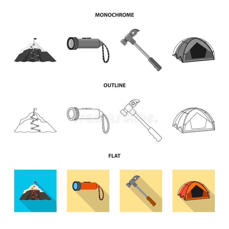 登山和高峰象的传染媒介例证 r 库存例证