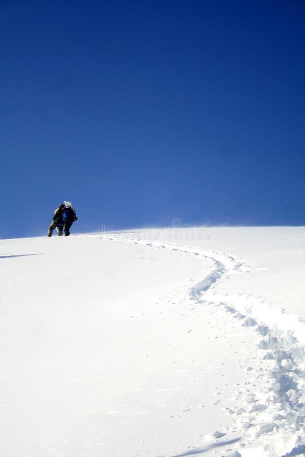 登山家上升 图库摄影