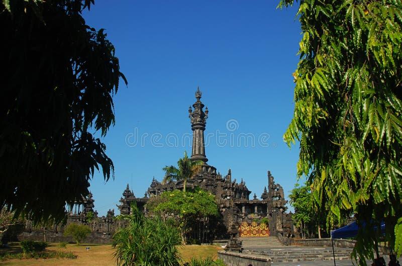 登巴萨的Bajra Sandhi纪念碑 免版税库存图片