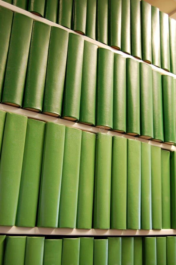 登记书架绿色 库存图片