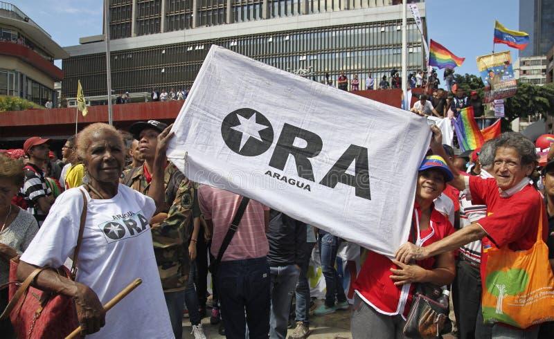 登记作为总统选举的候选人的尼古拉斯・马杜罗在委内瑞拉 库存照片