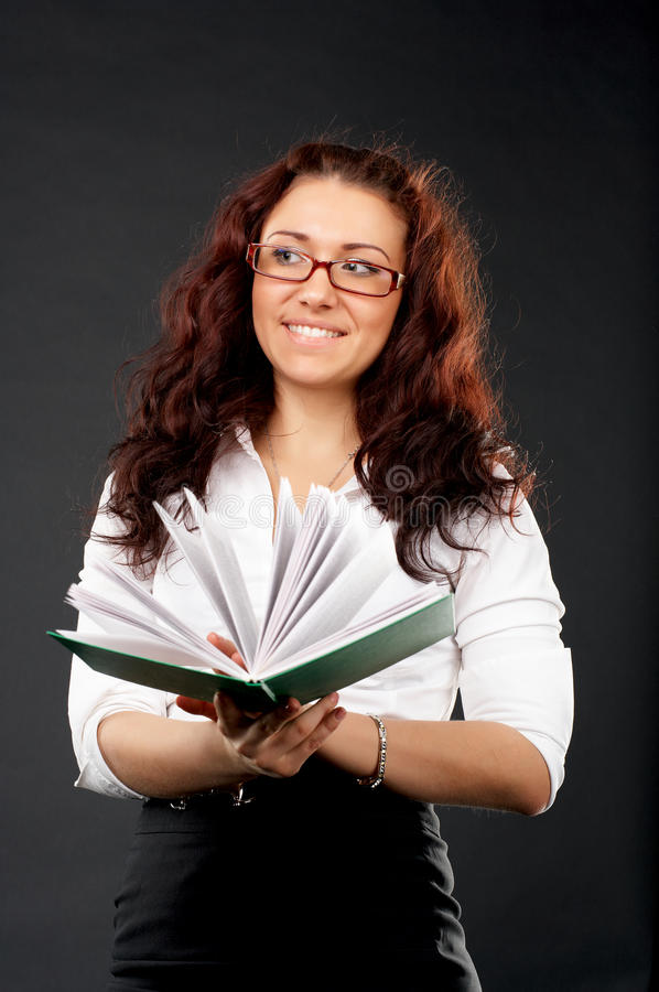 登记女孩雷丁大学年轻人 库存照片